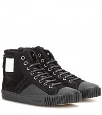 Balenciaga Young Suede High Top Sneakers Black