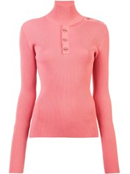 Dion Lee Turtleneck Fitted Sweater Pink And Purple