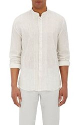 John Varvatos Neat Pattern Shirt White