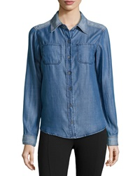 Michael Stars Denim Button Down Shirt