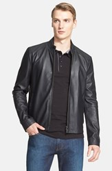Men's Armani Collezioni Lambskin Leather Moto Jacket Nordstrom Exclusive