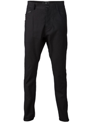 Unconditional Tapered Drop Crotch Trousers Black