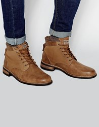 Pull And Bear Pullandbear Boots In Tan Faux Leather Brown