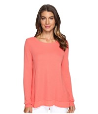 Lamade Austin Crew Neck Spiced Coral Women's Long Sleeve Pullover Orange
