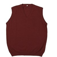Plum Of London Boy's Baby Alpaca Sleeveless V Neck Sweater Red