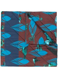 Odeeh Print Quilted Scarf Blue