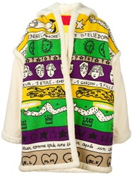 Jc De Castelbajac Vintage Graphic Printed Oversized Jacket Multicolour