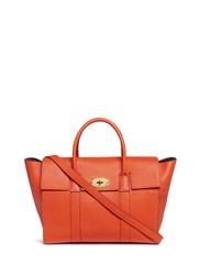 Mulberry 'Bayswater' Grainy Leather Tote Orange