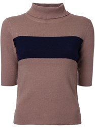 Guild Prime Elbow Sleeve Jumper Brown