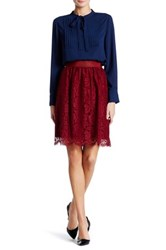 Vince Camuto Scalloped Lace Skirt Pink