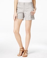 Inc International Concepts Petite Cuffed Twill Shorts Only At Macy's Sky Grey