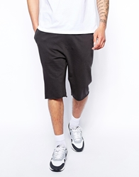 Asos Jersey Shorts In Longer Length Washedblack