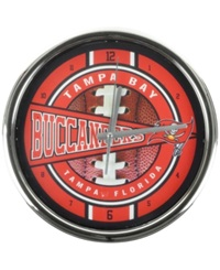 Memory Company Tampa Bay Buccaneers Chrome Clock