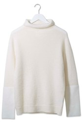 Needle Punch Funnel Neck Jumper By Boutique Cream