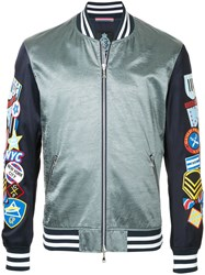 Guild Prime Badge Sleeve Bomber Jacket Blue