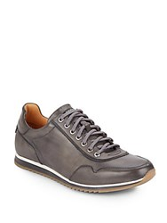 Saks Fifth Avenue By Magnanni Leather Sneakers Grey