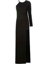 Anthony Vaccarello One Sleeve Jumpsuit Black