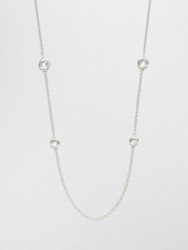 Ippolita Rock Candy Clear Quartz And Sterling Silver Graduated Lollipop Station Necklace Clear Silver