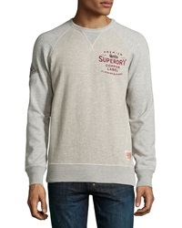 Superdry Stockton Printed Crewneck Sweatshirt Bonneville Gray Brindle