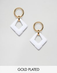 Gogo Philip Resin Hoop Drop Earrings Gold