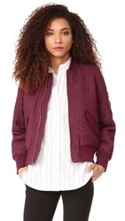 Whistles Quilted Bomber Burgundy