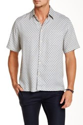 Toscano Short Sleeve Bias Check Shirt White
