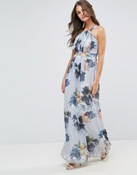 Little Mistress Floral Print Occasion Maxi Dress Floral Multi