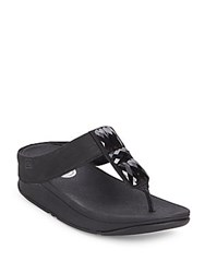 Fitflop Sweetie Toe Post Sandals Black