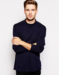 Selected Turtle Neck Jumper Navy