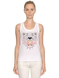 Kenzo Tiger Printed Cotton Jersey Tank Top