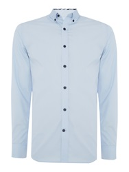 Selected Slim One Mix Luca Shirt Light Blue