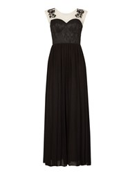 Izabel London Illusion Maxi Dress Black