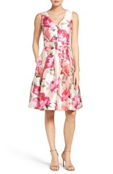 Eliza J Women's Floral Mikado Fit And Flare Dress