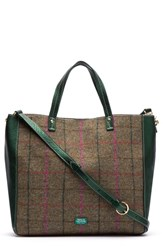 Frances Valentine Large Margaret Wool And Leather Tote