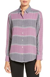 Foxcroft Women's 'Dotted Stripes' Print Long Sleeve Shirt