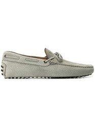 Tod's Classic Boat Shoes Grey