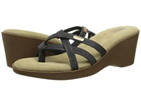 Bass Whitley Black Nubuck Leather Women's Sandals