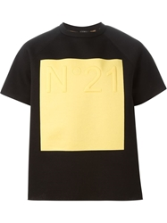 N.21 Square Print Boxy T Shirt Black