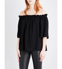 French Connection Evening Dew Crepe Top Black
