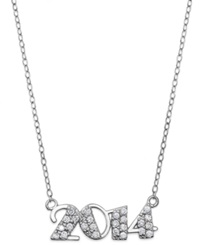 B. Brilliant Cubic Zirconia 2014 Pendant Necklace In Sterling Silver 1 4 Ct. T.W.