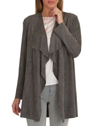 Betty Barclay Faux Suede Waterfall Jacket Smoked Pearl
