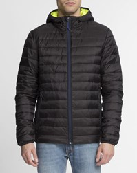 Scotch And Soda Black Fluorescent Lining Hooded Light Down Jacket
