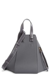 Loewe Small Hammock Pebbled Leather Hobo Grey Anthracite