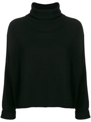 Dusan Roll Neck Fitted Sweater Black