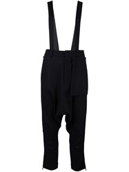 Y 3 Shoulder Strap Cropped Trousers Black