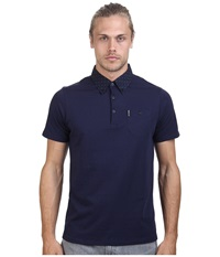 Ben Sherman Short Sleeve 2 Finger Collar Polo Mc11482a Navy Blazer Men's Short Sleeve Pullover