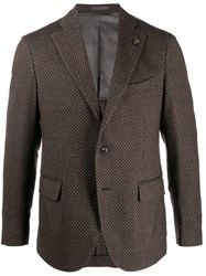 Gabriele Pasini Single Breasted Blazer Brown
