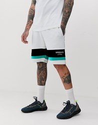 Mennace Co Ord Shorts With Logo Panel In Off White