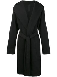 Rick Owens Drkshdw Hooded Robe Cardigan Black