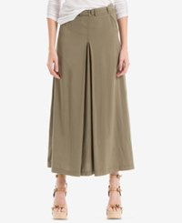 Max Studio London Belted Cargo Skirt Olive